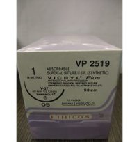 Ethicon Synthetic Absorbable Coated Vicryl Plus Antibacterial Sutures (Polyglactin 910 With Triclosan) (VP2519)