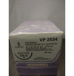 Ethicon Synthetic Absorbable Coated Vicryl Plus Antibacterial Sutures (Polyglactin 910 With Triclosan) (VP2534)