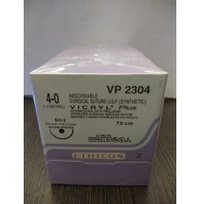 Ethicon Synthetic Absorbable Coated Vicryl Plus Antibacterial Sutures (Polyglactin 910 With Triclosan)-VP2304