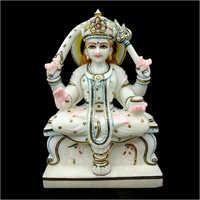 Santoshi Maa Marble Statue