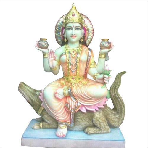 Marble Narmda Mata Statue