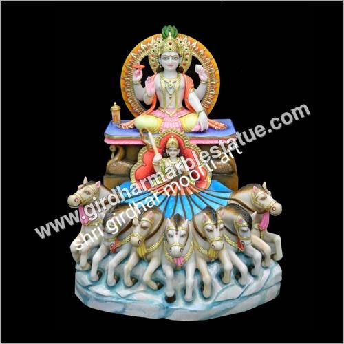 Marble Surya Statue
