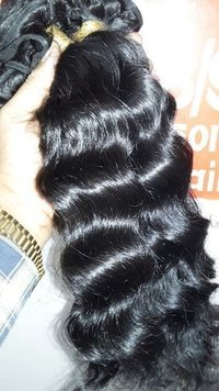 Cuticle aligned Indian human hair