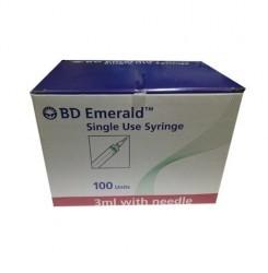 BD Emerald Single Use Syringe 3ML