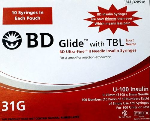 BD Glide With TBL 31G (U-100)