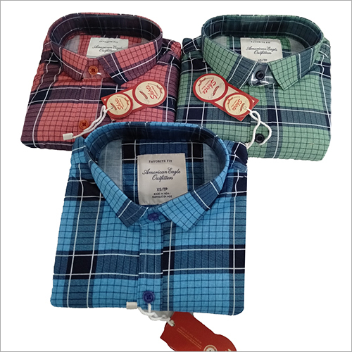 Mens Check Cotton Shirt