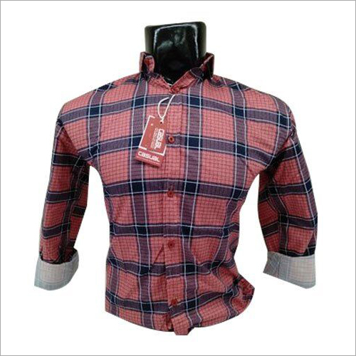 Mens Casual Check Shirt