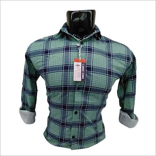 Mens Cotton Check Full Sleeve Shirt