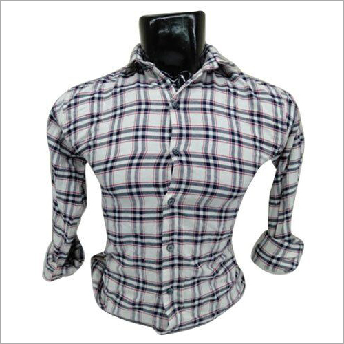 Mens Designer Check Shirt