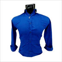 Mens Blue Plain Shirt