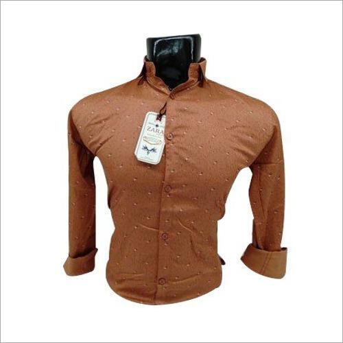 Mens Full Sleeve Cotton Printed Shirt