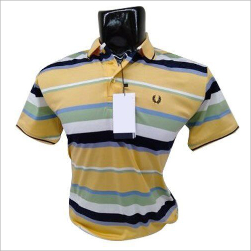 Mens Multi Color Polo T-Shirt