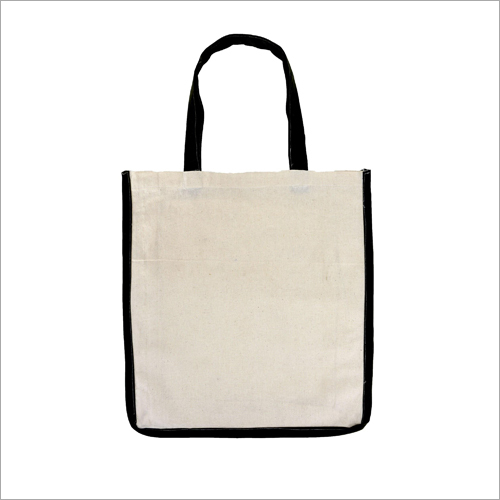 Cotton Carry Bag With Piping