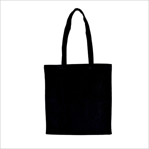 Black Cotton Carry Bag