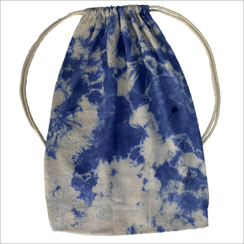 Hand Dyed Cotton Drawstring Bag