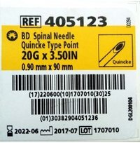 BD Spinal Needle Quincke Type Point (20G)