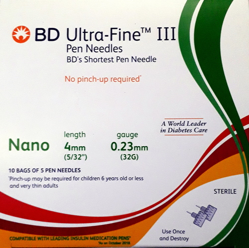 BD Ultrafine III Nano Pen Needle 32G 4MM 5s
