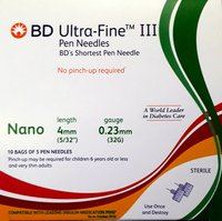 BD Ultrafine III Nano Pen Needle 32G 4MM 5s