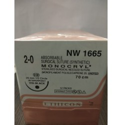 Ethicon Synthetic Absorbable Monocryl (Poliglecaprone 25) (NW1665)