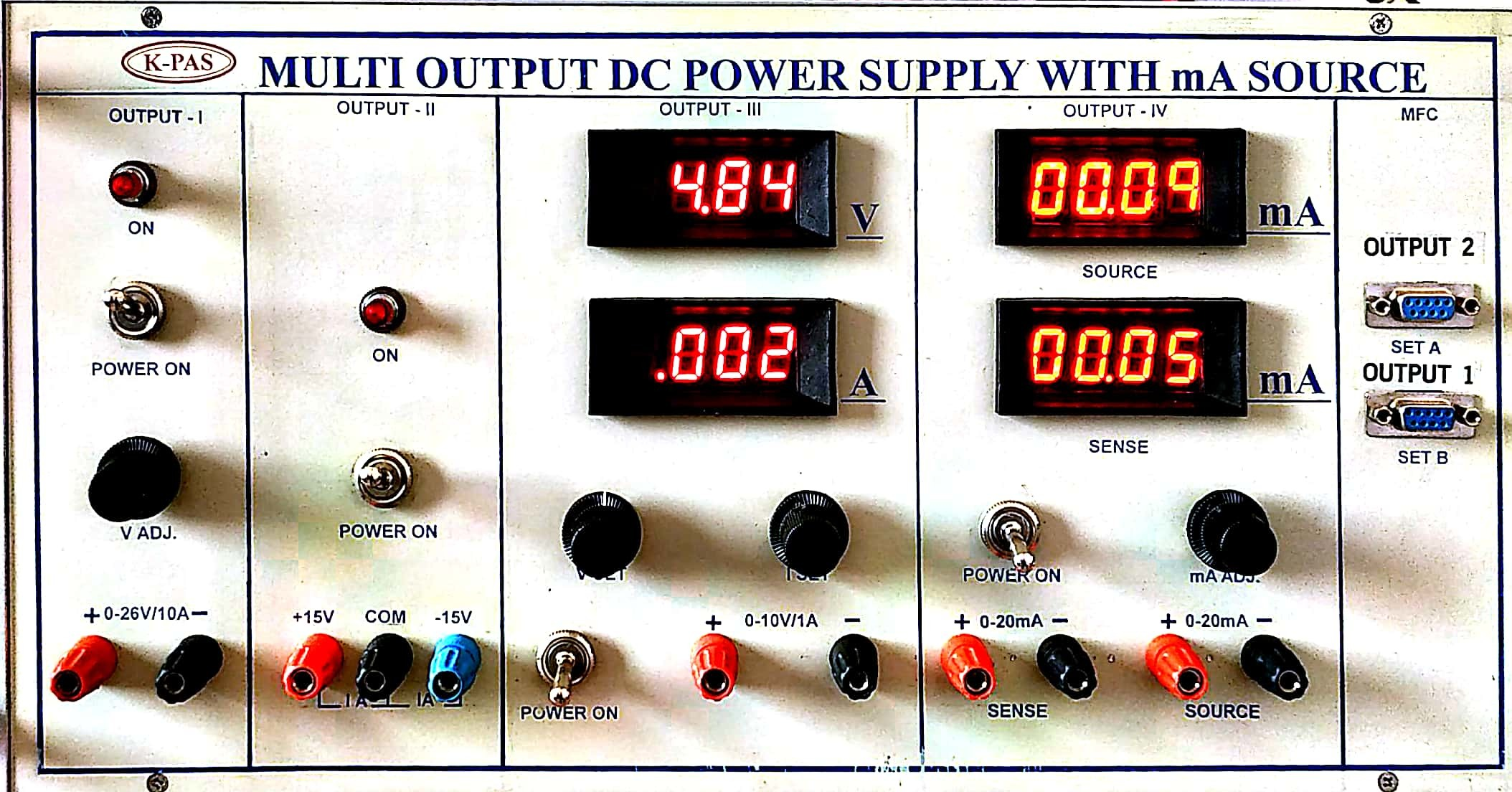 MULTI OUTPUT DC POWER SUPPLY WITH mA SOURCE