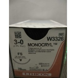 Ethicon Synthetic Absorbable Monocryl (Poliglecaprone 25) (W3326)