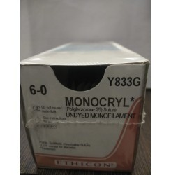Ethicon Synthetic Absorbable Monocryl (Poliglecaprone 25) (Y833G)