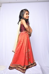 Party Wear Kids Kurti With Ghagra