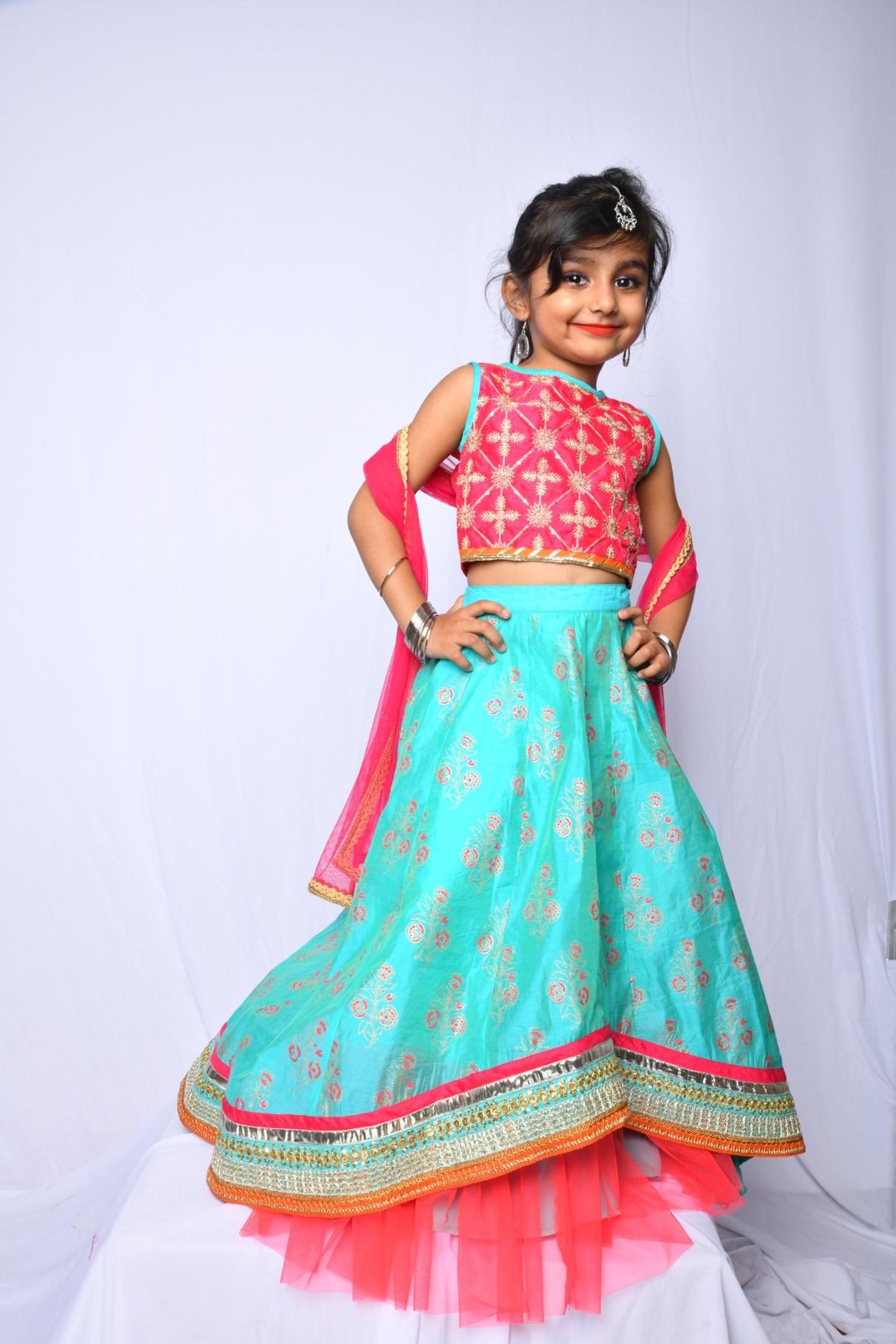 Party Wear Kids Ghagra Choli