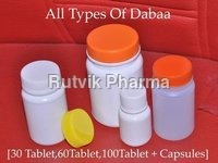 White Pharma Plastic Containers