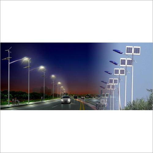 White Solar Street Light