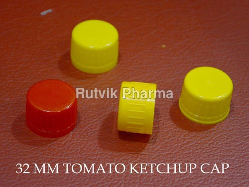 Plastic Yellow, Red Tomato Sauce Cap