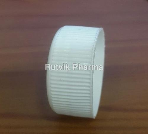 White Round 28 mm Glass Bottle Caps