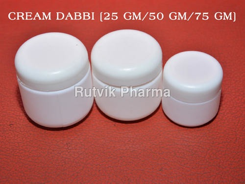 White Cream Container
