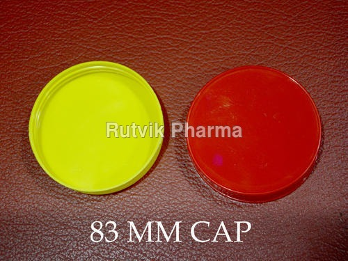 Plastic Red, Yellow 83 mm Jar Container Cap