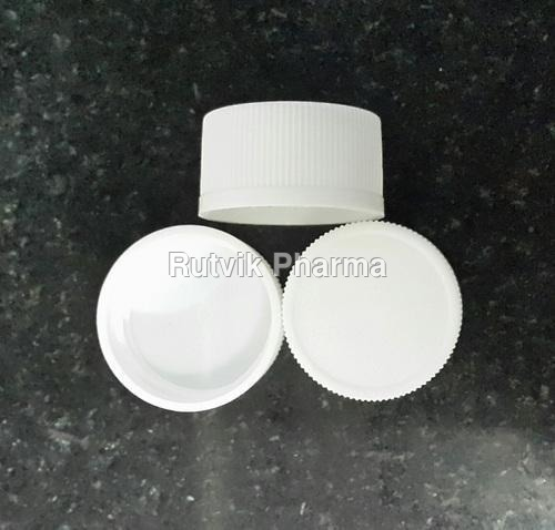 White 28 MM Simple Plastic Cap