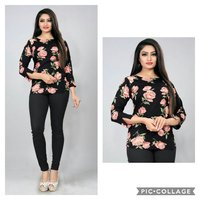 Designer Printed Ladies Top