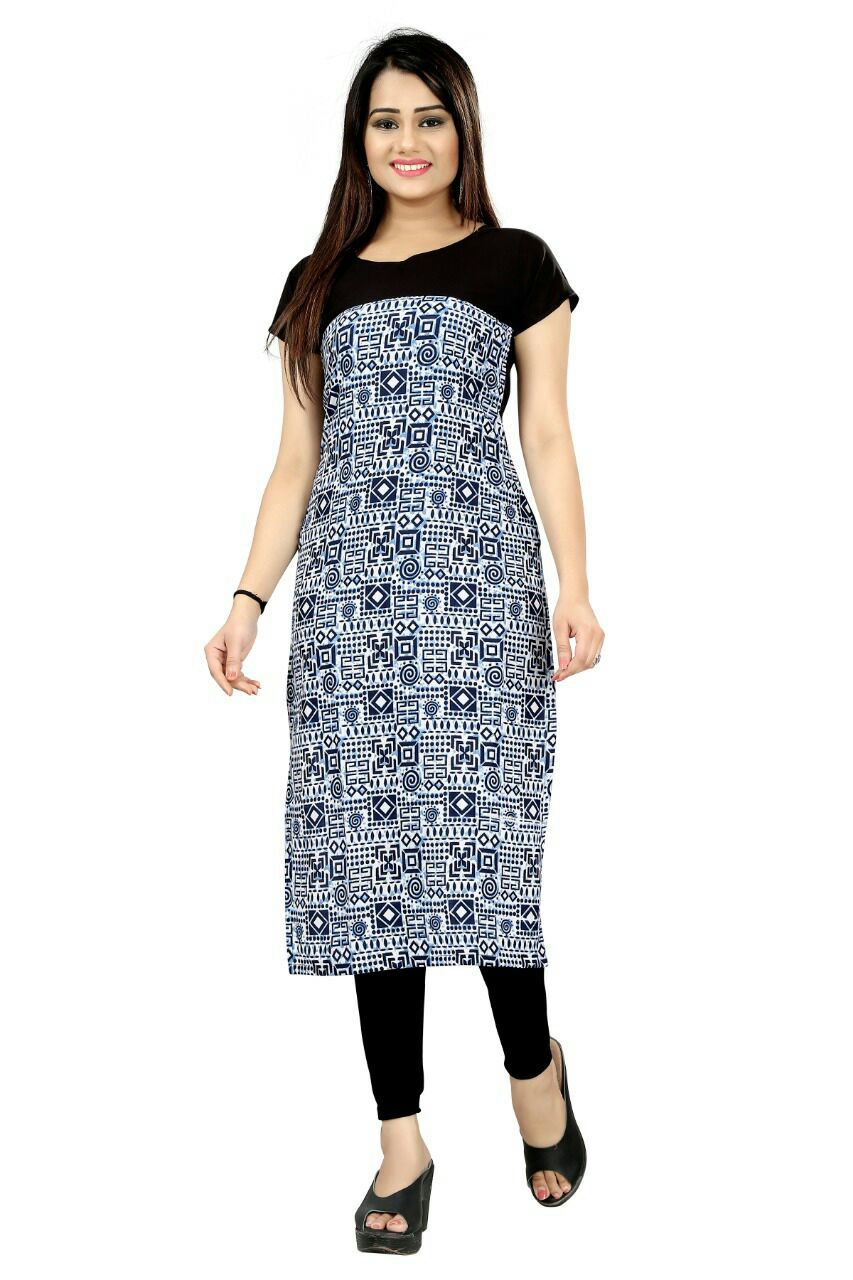 Straight Ladies Printed Kurti