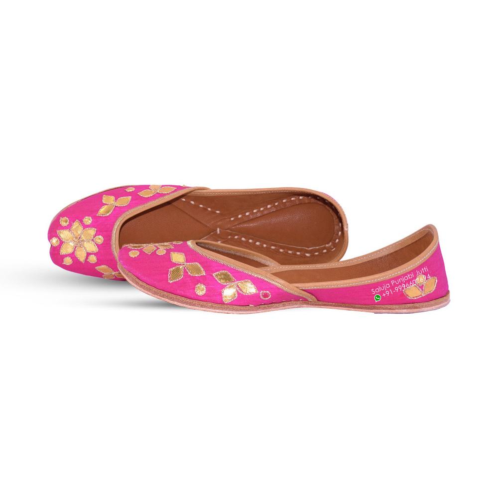 Pink Punjabi partywear jutti  For Women