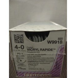 Ethicon Synthetic Absorbable (Polyglactin 910) Coated Vicryl Rapide (W9918)