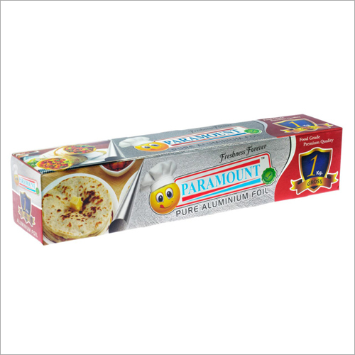Paramount 1 Kg Net Food Grade Aluminium Foil Roll (Pack of 1)
