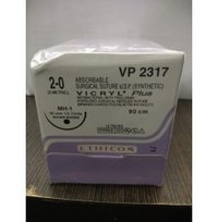 Ethicon Synthetic Absorbable Coated Vicryl Plus Antibacterial Sutures (Polyglactin 910 With Triclosan) (VP2317)