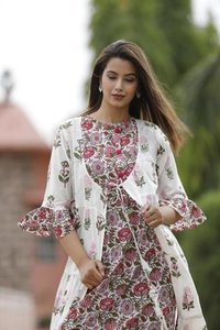 Trendy Printed Cotton Summer Kurti