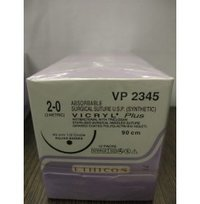 Ethicon Synthetic Absorbable Coated Vicryl Plus Antibacterial Sutures (Polyglactin 910 With Triclosan) (VP2345)