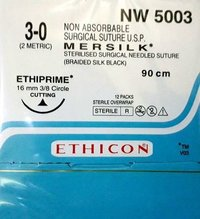 Ethicon - Mersilk ( Black Braided Silk With Needle Suture ) (Nw5003)