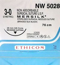 Ethicon - Mersilk ( Black Braided Silk With Needle Suture ) (Nw5028)