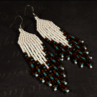 Handmade sead bead earrings