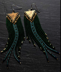 Handmade sead bead earrings