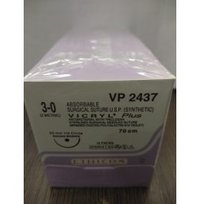 Ethicon Synthetic Absorbable Coated Vicryl Plus Antibacterial Sutures (Polyglactin 910 With Triclosan) (VP2347)