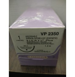 Ethicon Synthetic Absorbable Coated Vicryl Plus Antibacterial Sutures (Polyglactin 910 With Triclosan) (VP2350)