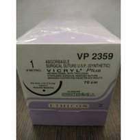 Ethicon Synthetic Absorbable Coated Vicryl Plus Antibacterial Sutures (Polyglactin 910 With Triclosan) (VP2359)
